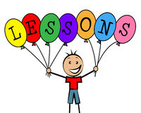 Lessons Balloons Indicates Educating Learned And Childhood Royalty Free Stock Photography