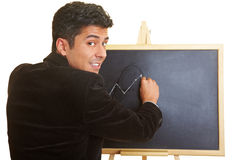Lessons with a blackboard Stock Images