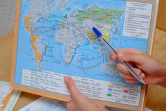 Lessons in geography Stock Photos