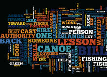 Lessons In Leadership What Not To Do From A Canoe Text Background Word Cloud Concept Stock Photography