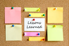 Lessons Learned Sticky Note Concept Royalty Free Stock Photos