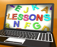 Lessons Message On Computer Royalty Free Stock Photography