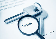Lessor Signing Contract Stock Image