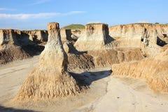 Lessowy erozi landform zdjęcie royalty free