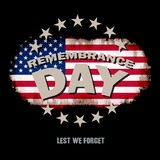Lest we forget text memorial vector Stock Photos