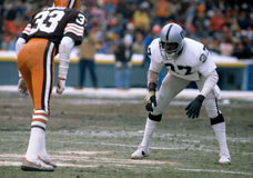 Lester Hayes. Oakland Raiders DB Lester Hayes #37. (Image taken from color slide Royalty Free Stock Photos