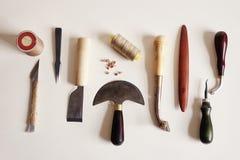 Lesther-Handwerkswerkzeug lizenzfreie stockbilder