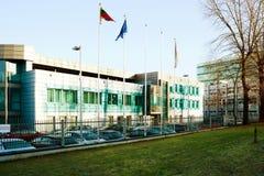 Lesto -立陶宛全国能量发行公司办公室 库存照片