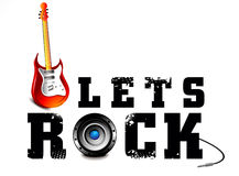Lests Rock Music Background Stock Photo