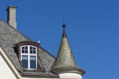 Ã-… lesund, Norge - detalj av en typiska Art Nouveau House Facade Arkivfoto