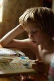 Lesung ABC buchen Stockfotografie