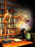 Lesung macht uns Traum Stockbilder