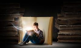 Lesung und Fantasie Stockfotografie