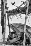 Lesuretime van visser, negambo Sri Lanka stock foto's