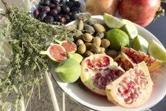 从Lesvos希腊的新鲜水果 库存照片