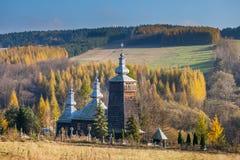 Православная церков церковь в Leszczyny, Польше Стоковые Изображения