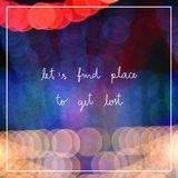 Let's find place to get lost stock illustration