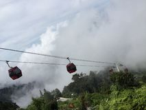 Genting Skyway. Let's fly in the Genting Highlands royalty free stock images