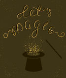 Let's magisch citaat Stock Foto's