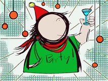 Let's przyjęcie w wakacyjnym czasie royalty ilustracja