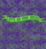 LETÂ IŚĆ przejażdżka rowery zdjęcie stock