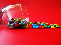 Letmangent du chocolat Photos libres de droits