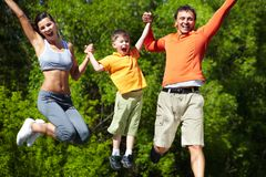 Let�s jump! Royalty Free Stock Photography