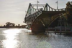 Letónia Liepaja Ponte da interrupção imagens de stock