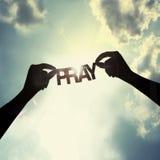 Let祈祷一起, 免版税图库摄影