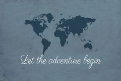 Let the adventure begin illustration Stock Photos