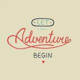 Let the adventure begin in vintage style vector illustration