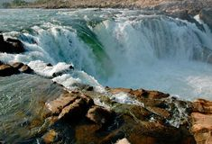 Let it fall. Picture of a waterfall in Madhya Pradesh, India royalty free stock images