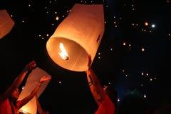 Let fly a balloon Stock Photos