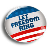Let freedom ring button Royalty Free Stock Photography