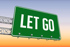 Let go against purple and orange sky Royalty Free Stock Images