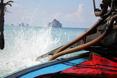 Let go to the sea by `Ruan Huan Tong` or boat Stock Photo