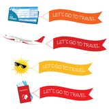 Let go to travel with icon illustration Stock Photography