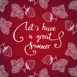 Let have a great summer. Royalty Free Stock Photos