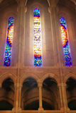 Let the light shine in. Light shining through the stained glass windows Royalty Free Stock Photos