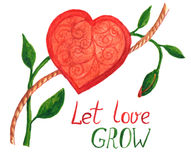 Let love grow Royalty Free Stock Image