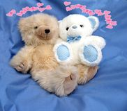Let me be your Teddy Bear. Couple of Teddies for a Card Royalty Free Illustration