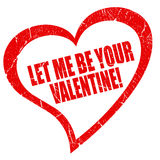 Let me be your valentine Stock Photo