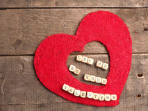 Let me be your valentine Royalty Free Stock Images