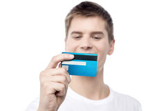 Let me look my card's validity ! Stock Images