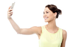 Let me take a selfie ! royalty free stock photos