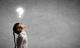 Let me think about it! Stock Photography