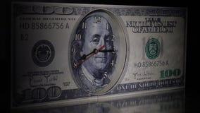 Let op de honderd-dollar rekening Straal van Licht stock footage