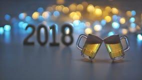 Let& x27; s庆祝新年2018年 免版税库存照片