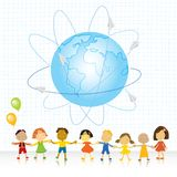 Let's all be friends stock illustration