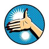 Let's be friends. Pop art hand Stock Photos